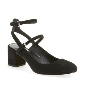 Rebecca Minkoff Brooke Ankle Strap Pump In Black Maryjane